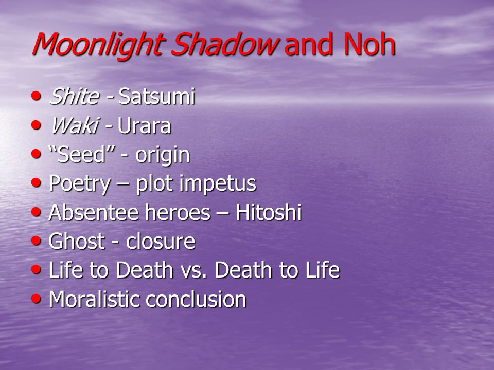 Moonlight Shadow and Noh