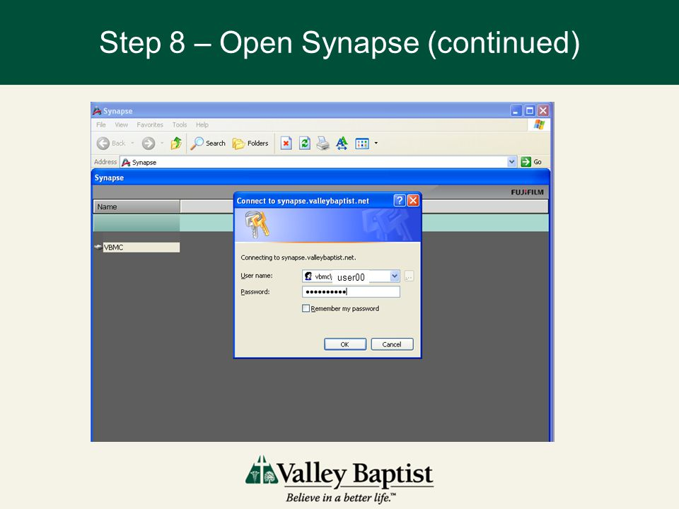 Step 8 – Open Synapse (continued)