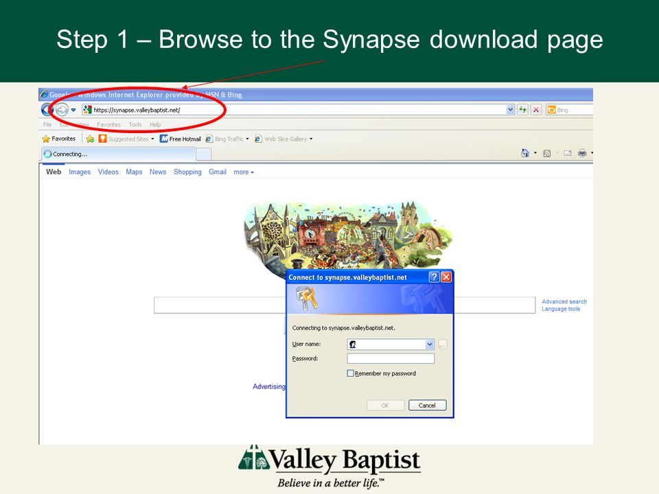 Step 1 – Browse to the Synapse download page