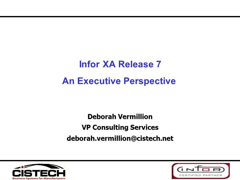 Infor XA Release 7 An Executive Perspective