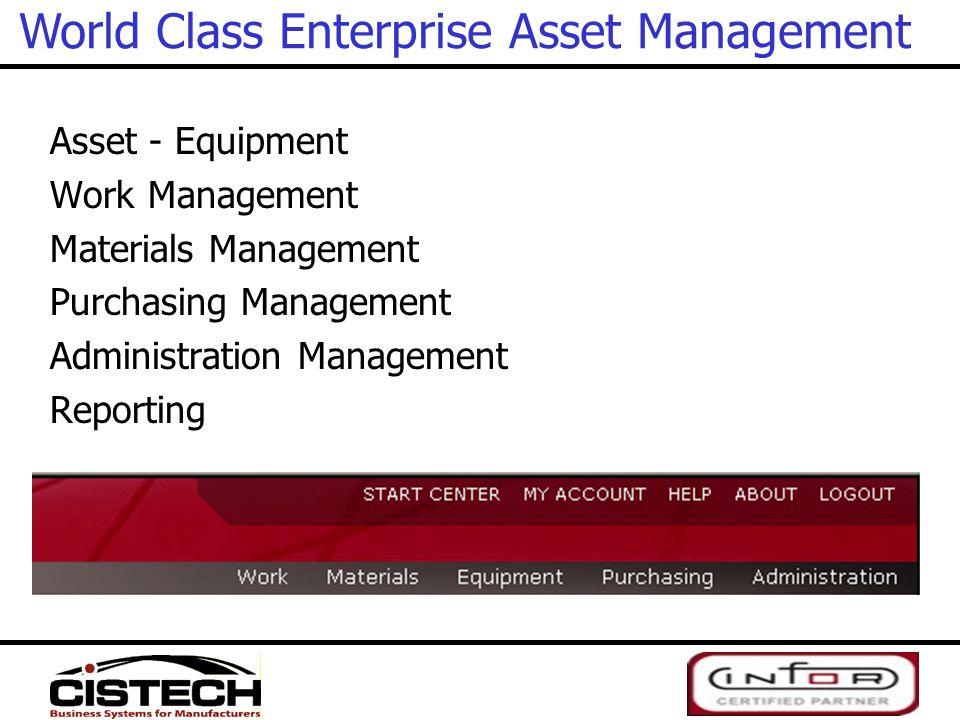 World Class Enterprise Asset Management