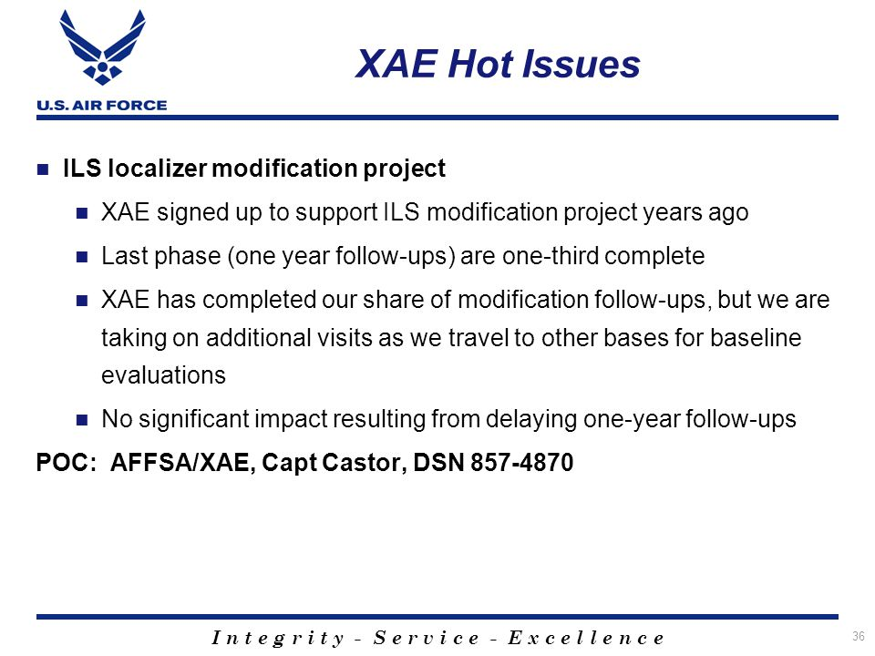 XAE Hot Issues ILS localizer modification project