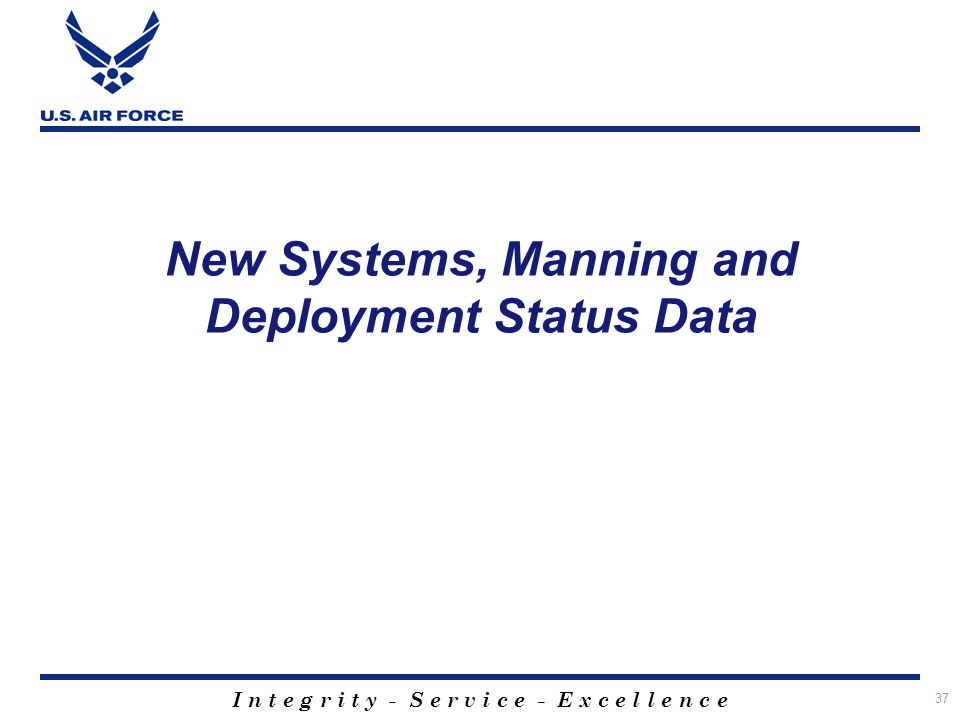 New Systems, Manning and Deployment Status Data