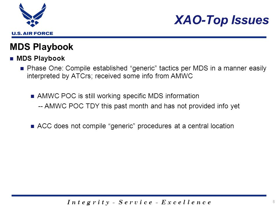 XAO-Top Issues MDS Playbook