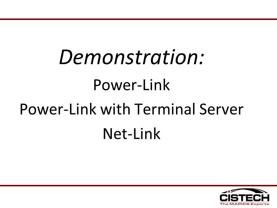 Power-Link with Terminal Server