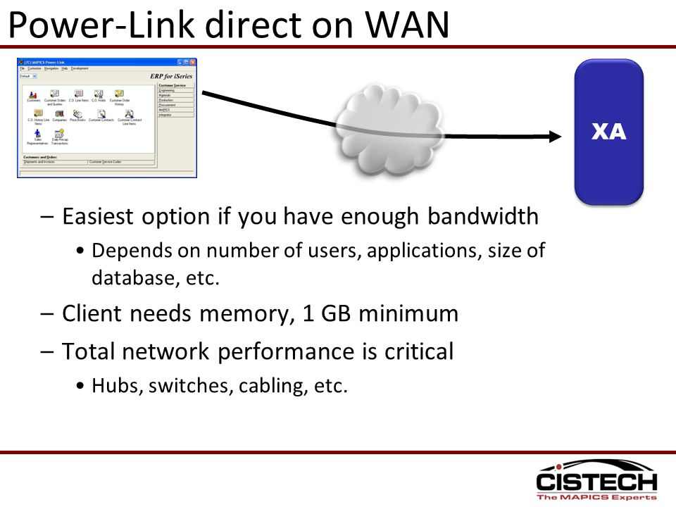 Power-Link direct on WAN