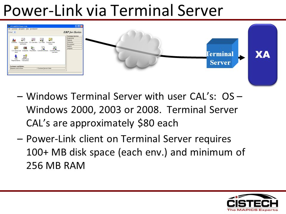 Power-Link via Terminal Server