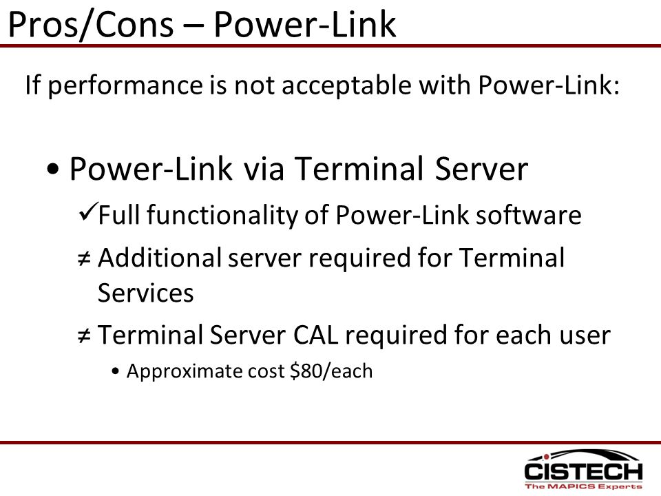 Pros/Cons – Power-Link