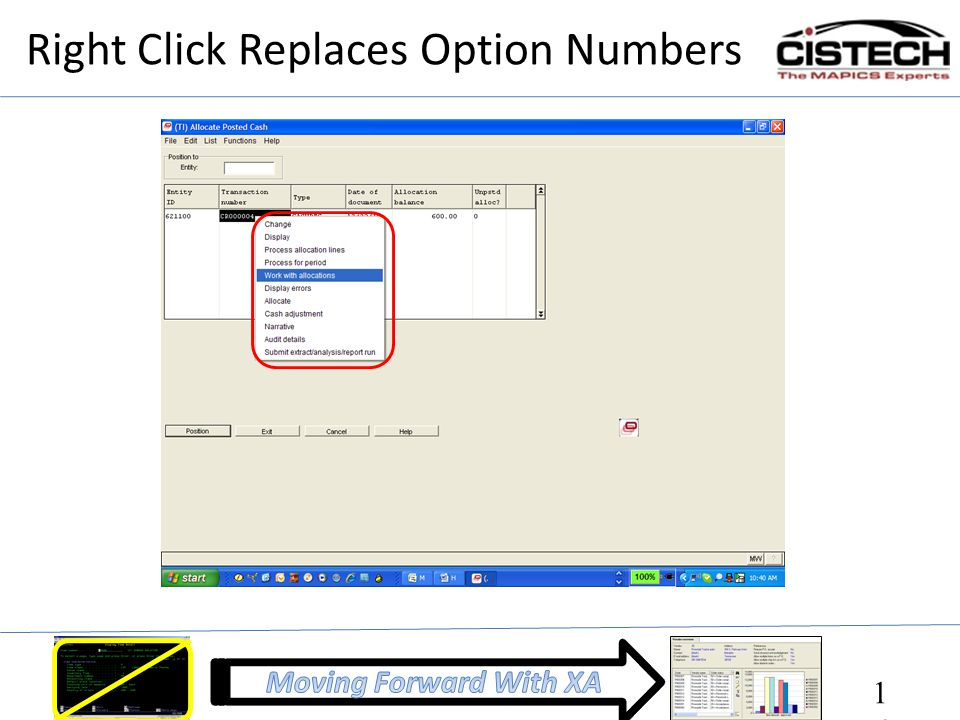 Right Click Replaces Option Numbers