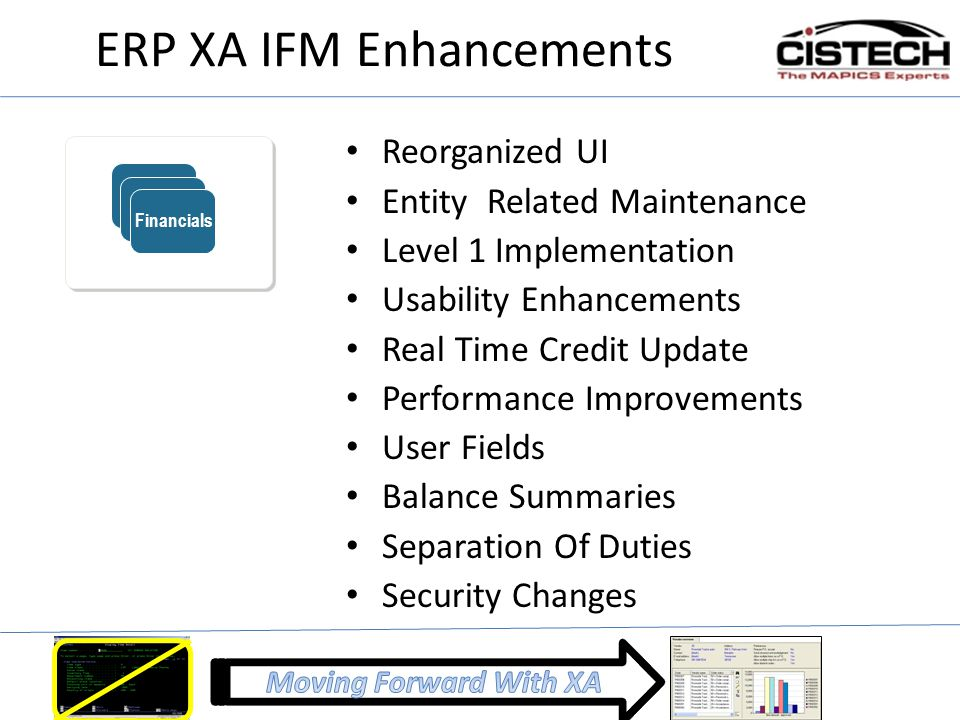ERP XA IFM Enhancements