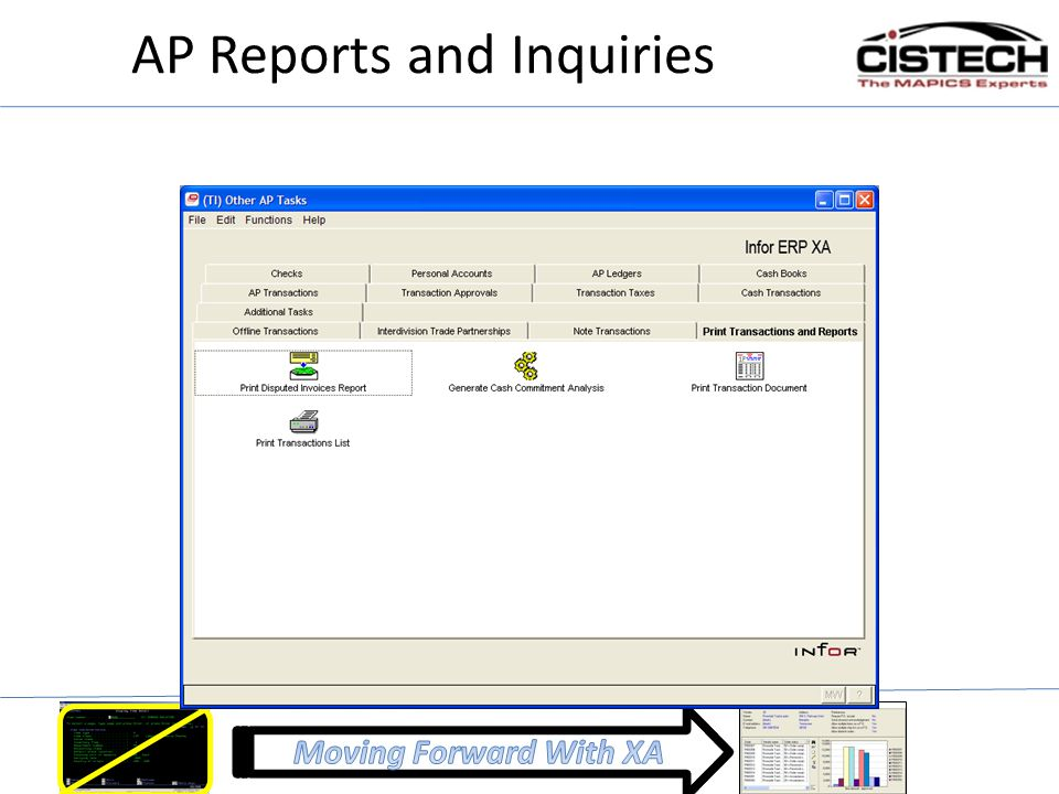 AP Reports and Inquiries