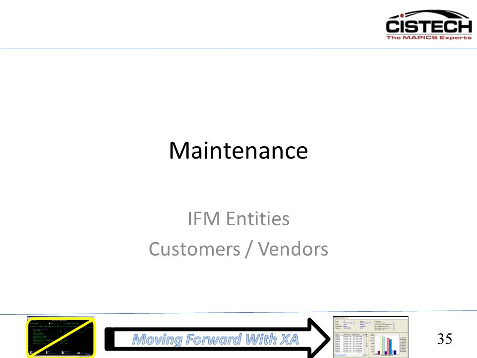 IFM Entities Customers / Vendors