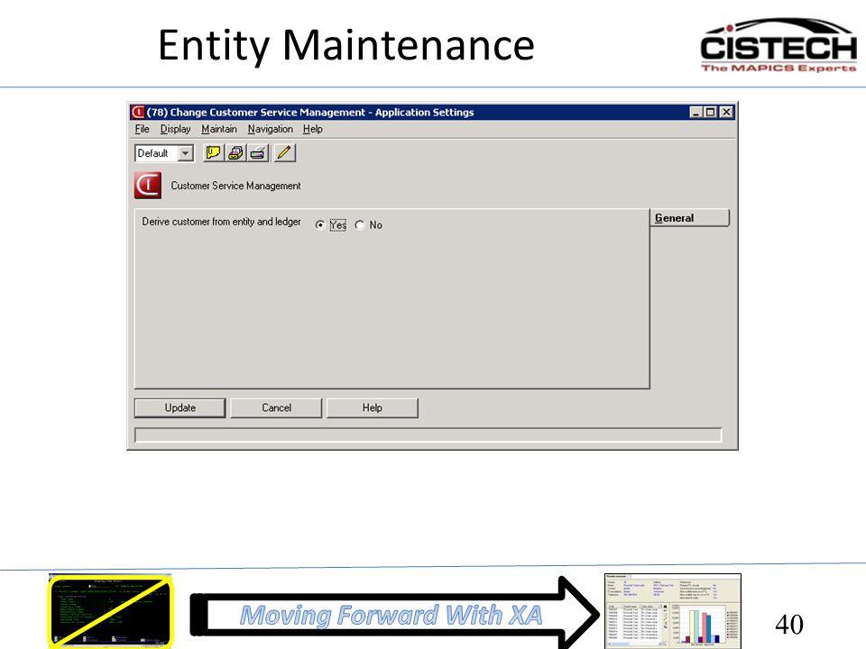 Entity Maintenance