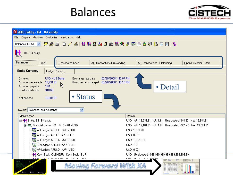 Balances Detail Status