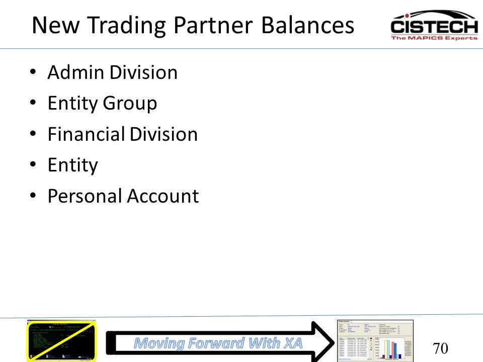 New Trading Partner Balances