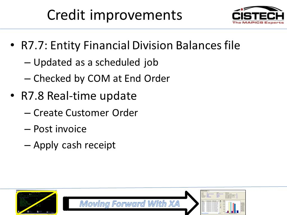 Credit improvements R7.7: Entity Financial Division Balances file