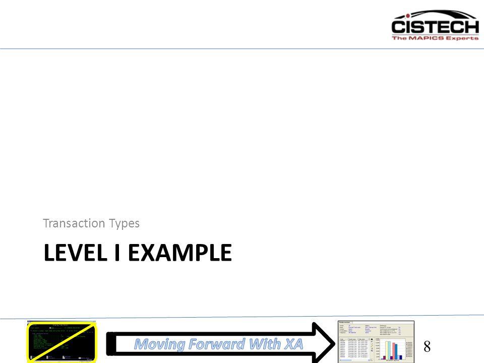 Transaction Types Level I example