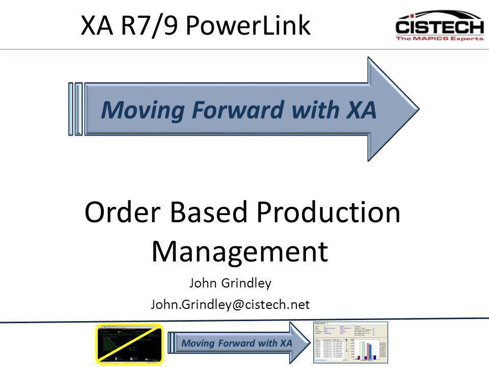 Order Based Production Management