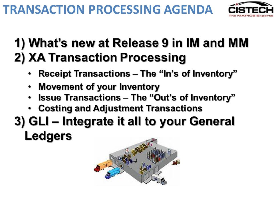 TRANSACTION PROCESSING AGENDA