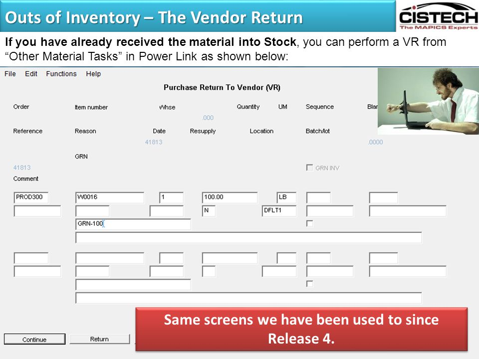 Outs of Inventory – The Vendor Return