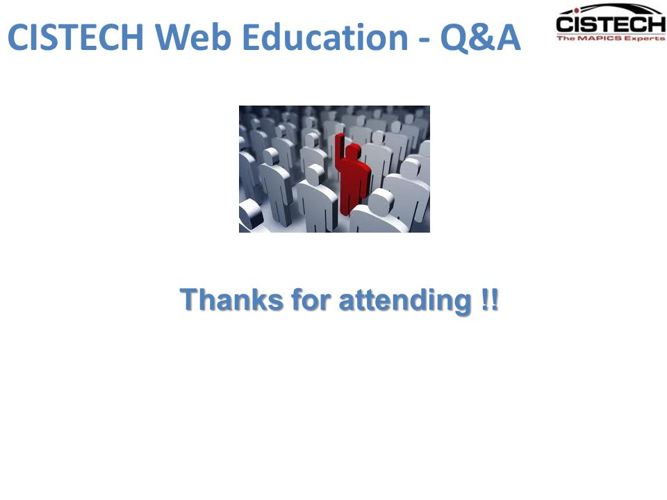 CISTECH Web Education - Q&A