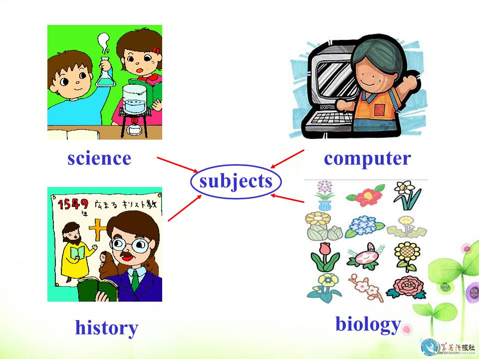 science computer subjects biology history