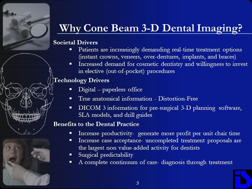 Why Cone Beam 3-D Dental Imaging