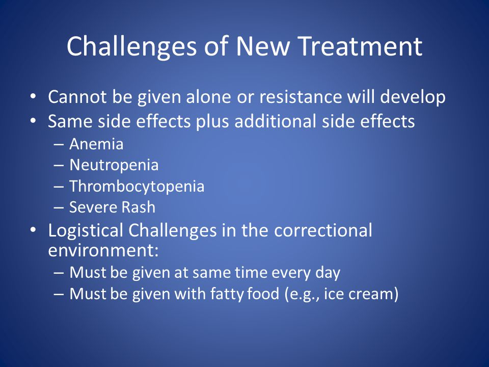 Challenges of New Treatment