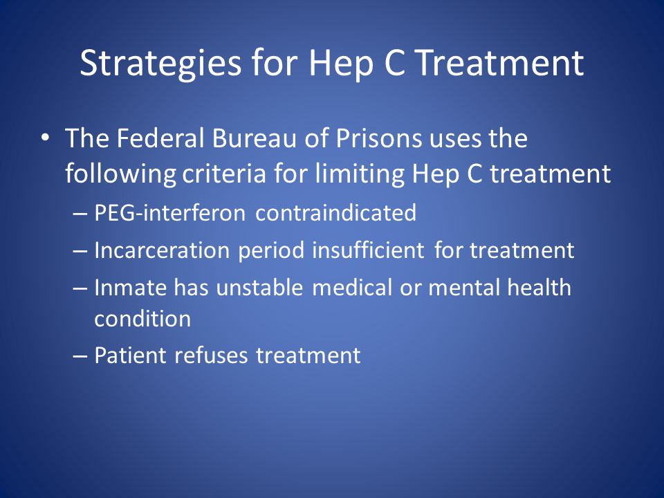 Strategies for Hep C Treatment