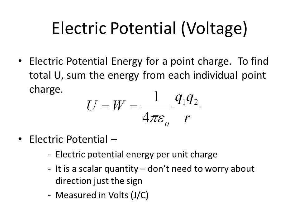 Electric Potential (Voltage)