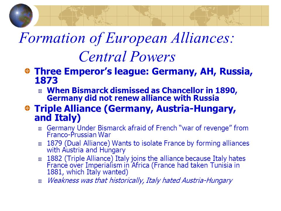 Formation of European Alliances: Central Powers