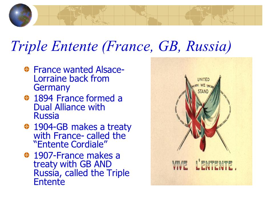 Triple Entente (France, GB, Russia)
