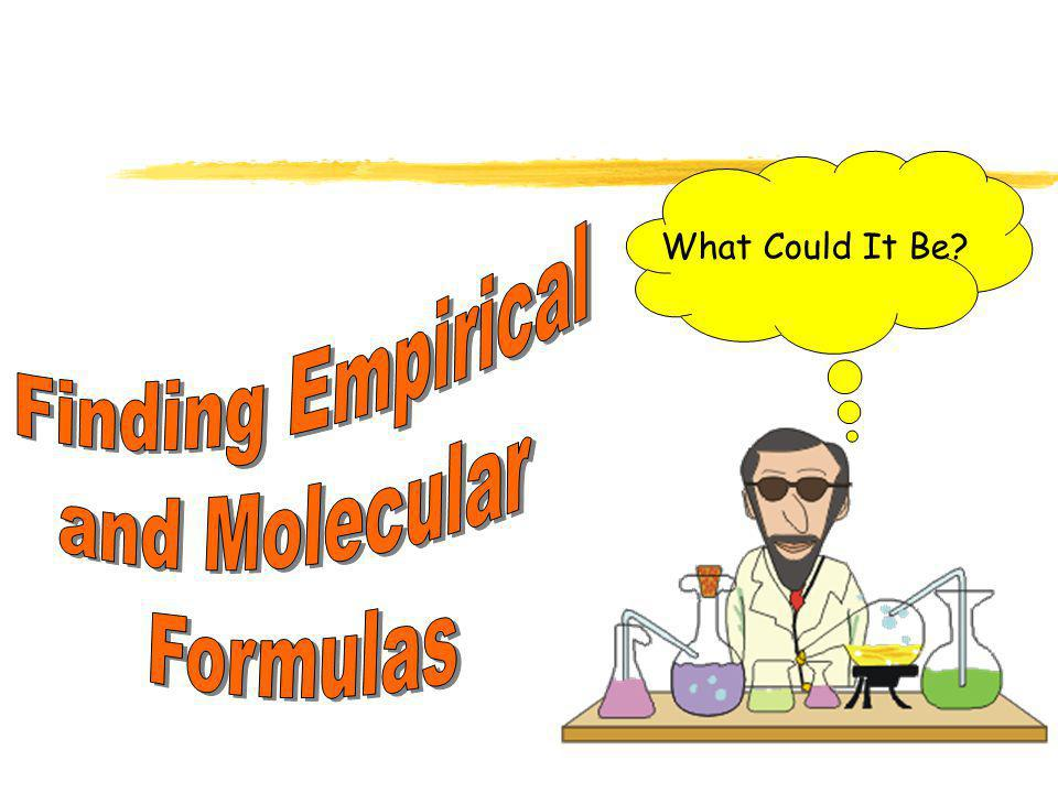 What Could It Be Finding Empirical and Molecular Formulas