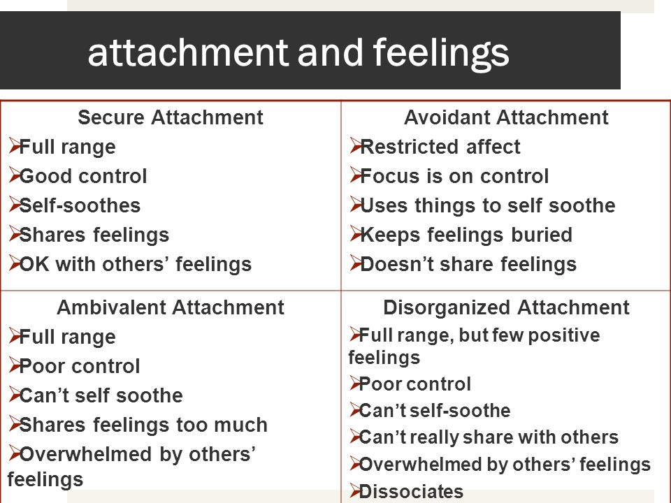 attachment and feelings