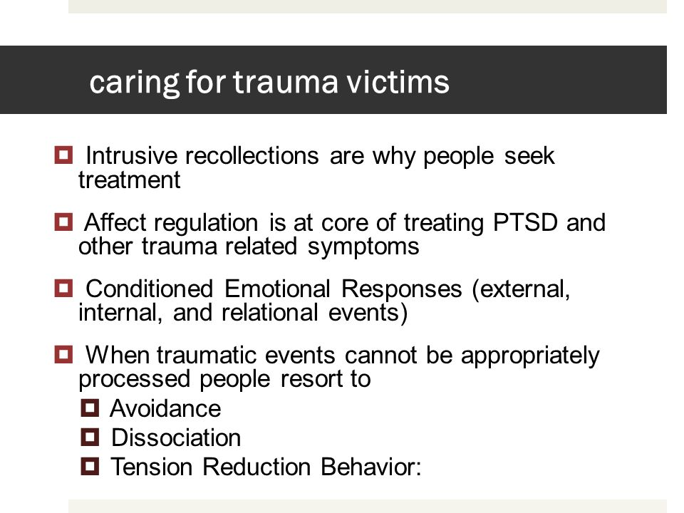 caring for trauma victims