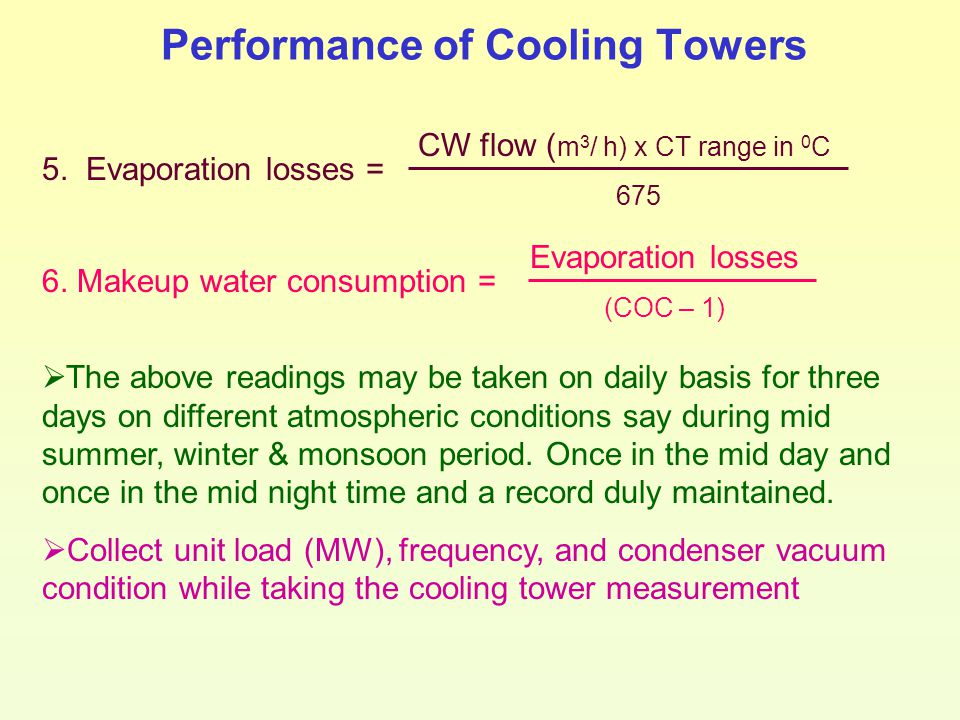 Performance of Cooling Towers