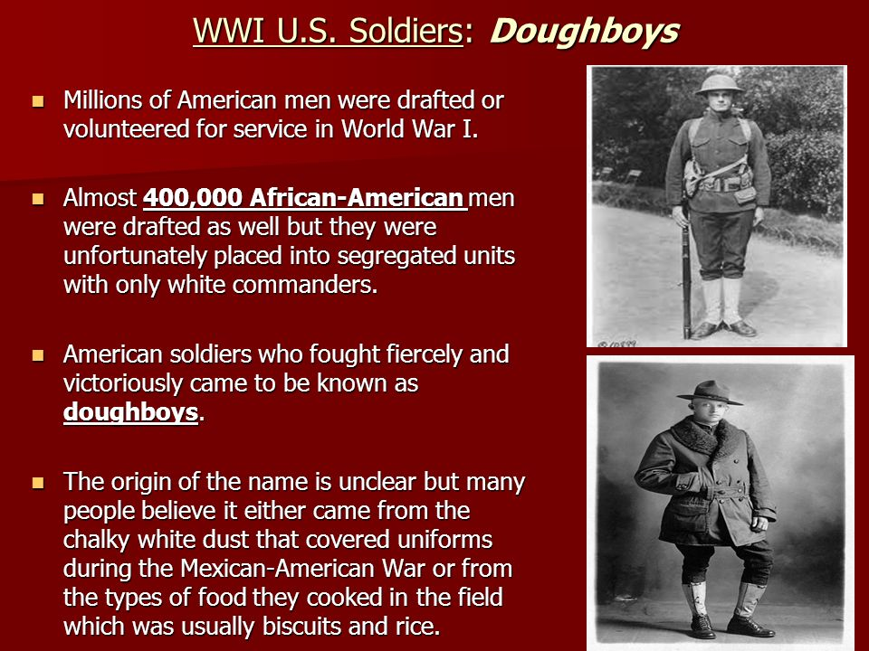 WWI U.S. Soldiers: Doughboys