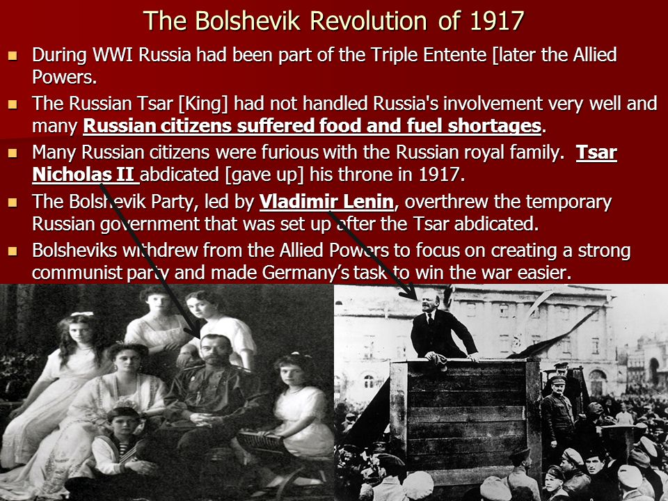 The Bolshevik Revolution of 1917
