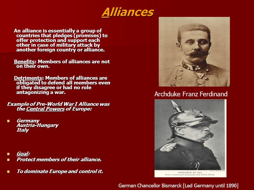 Alliances Archduke Franz Ferdinand