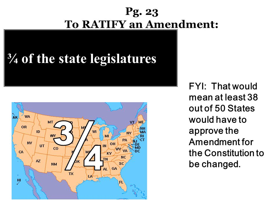 Pg. 23 To RATIFY an Amendment:
