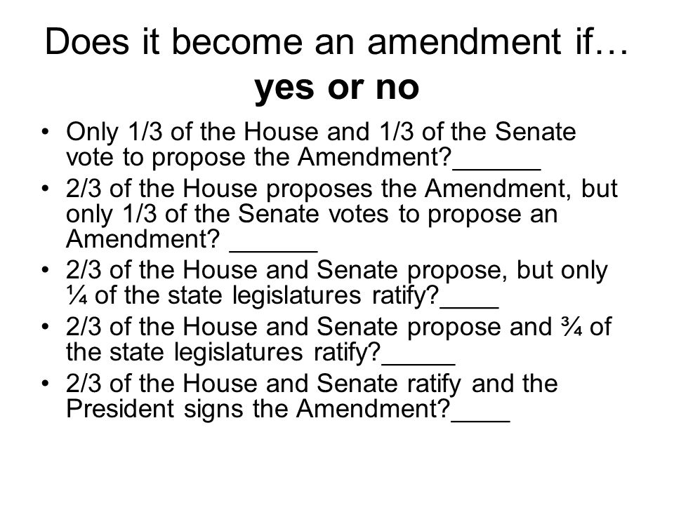 Does it become an amendment if… yes or no