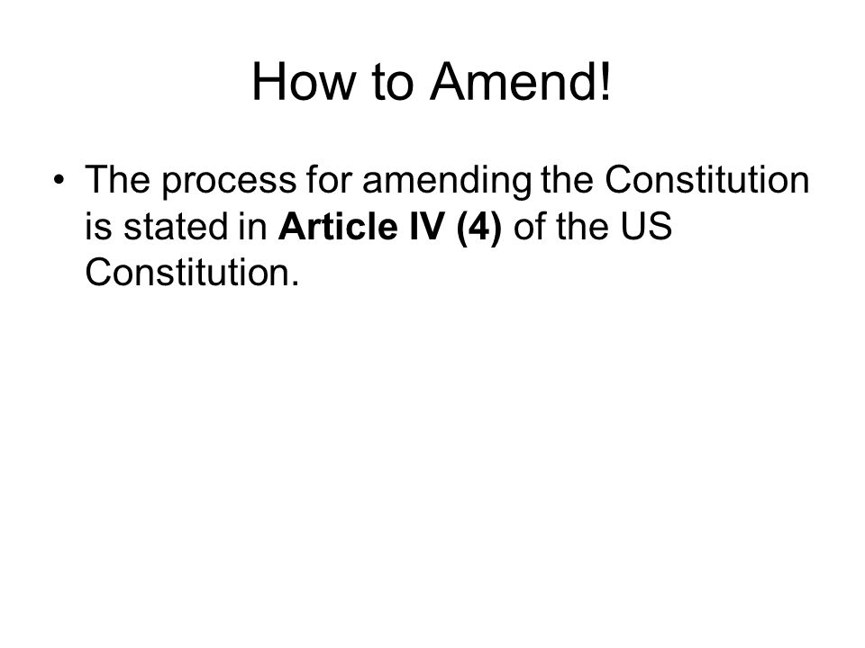 How to Amend.