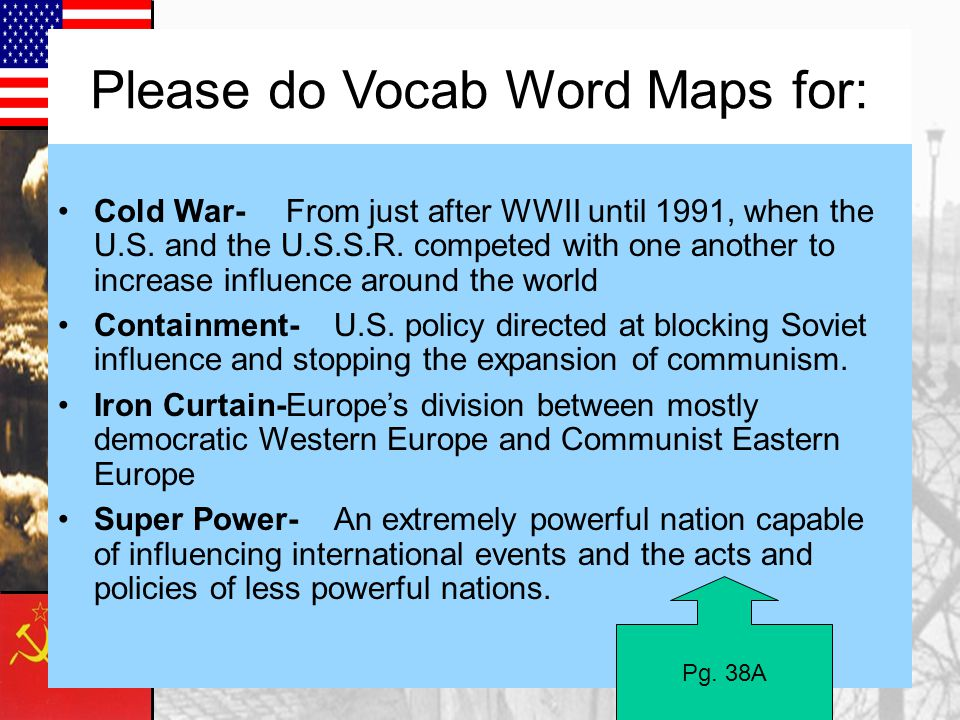 Please do Vocab Word Maps for: