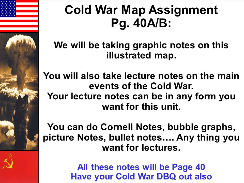 Cold War Map Assignment Pg