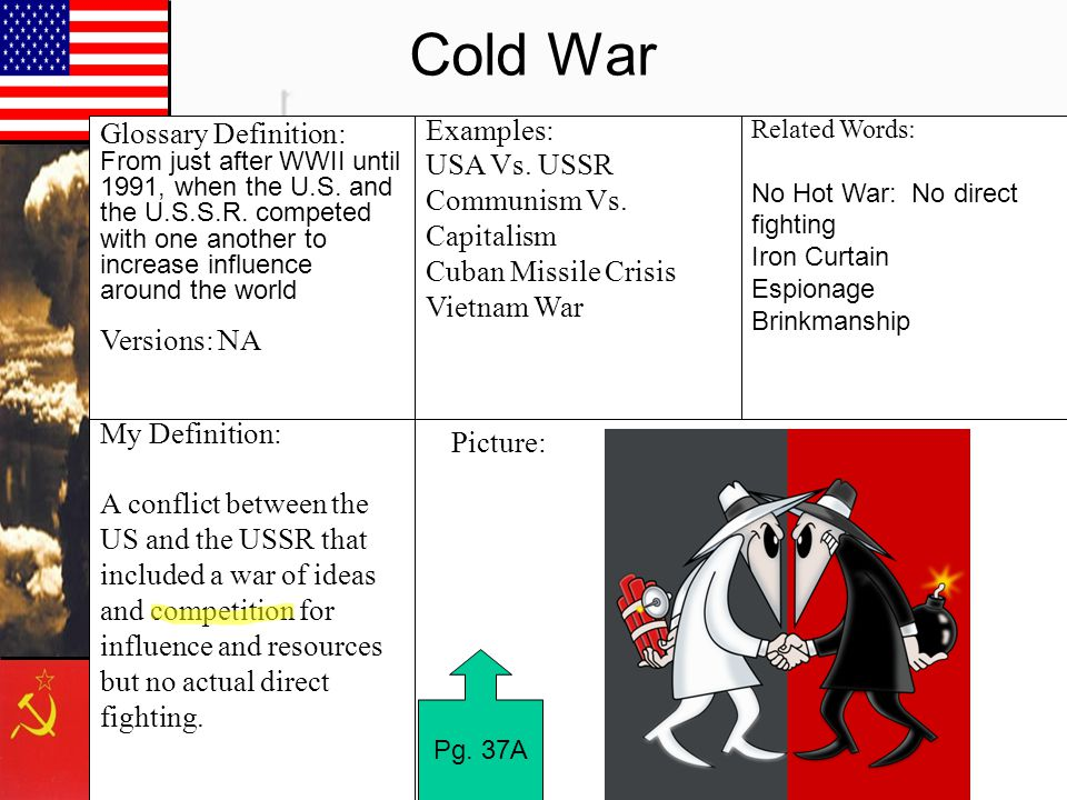 Cold War My Definition:
