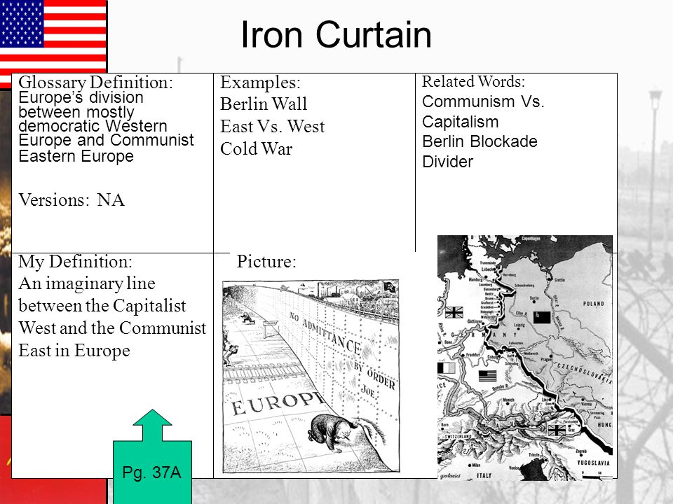 Iron Curtain My Definition: