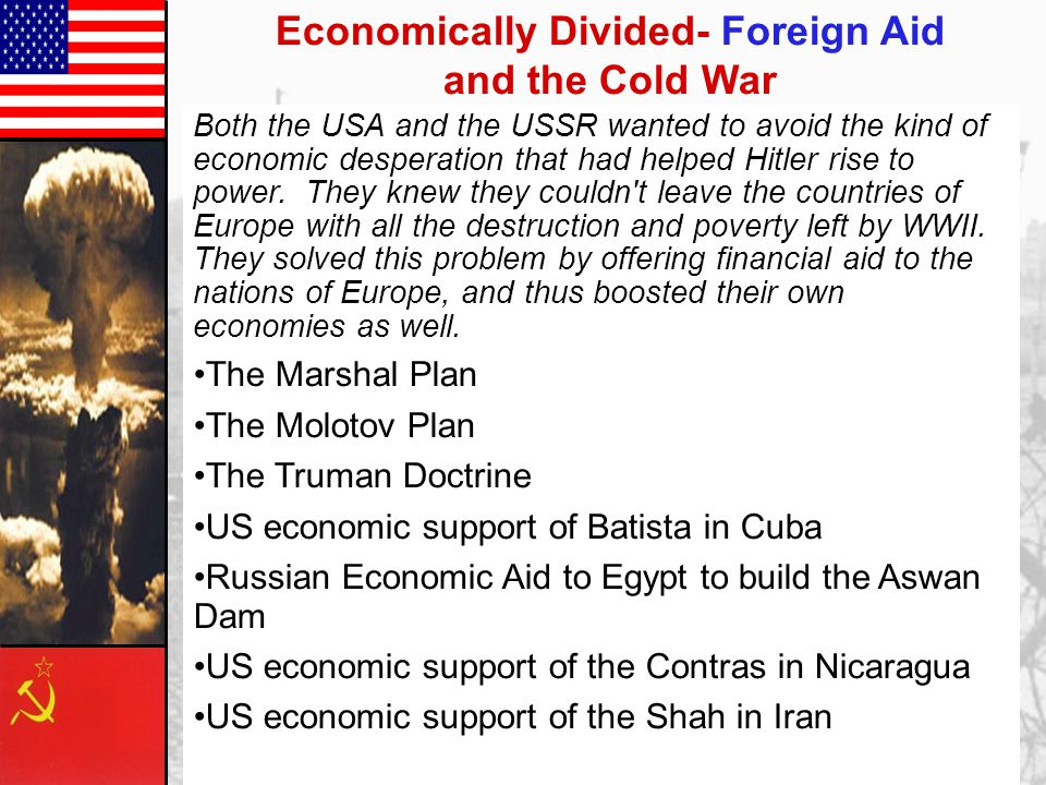 Economically Divided- Foreign Aid and the Cold War