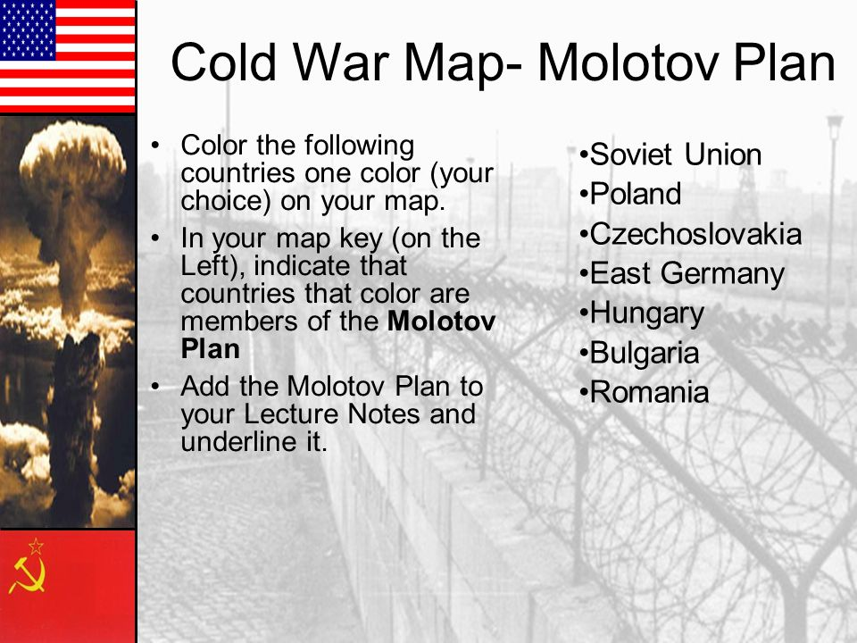Cold War Map- Molotov Plan
