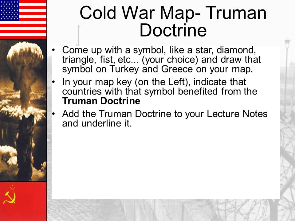 Cold War Map- Truman Doctrine
