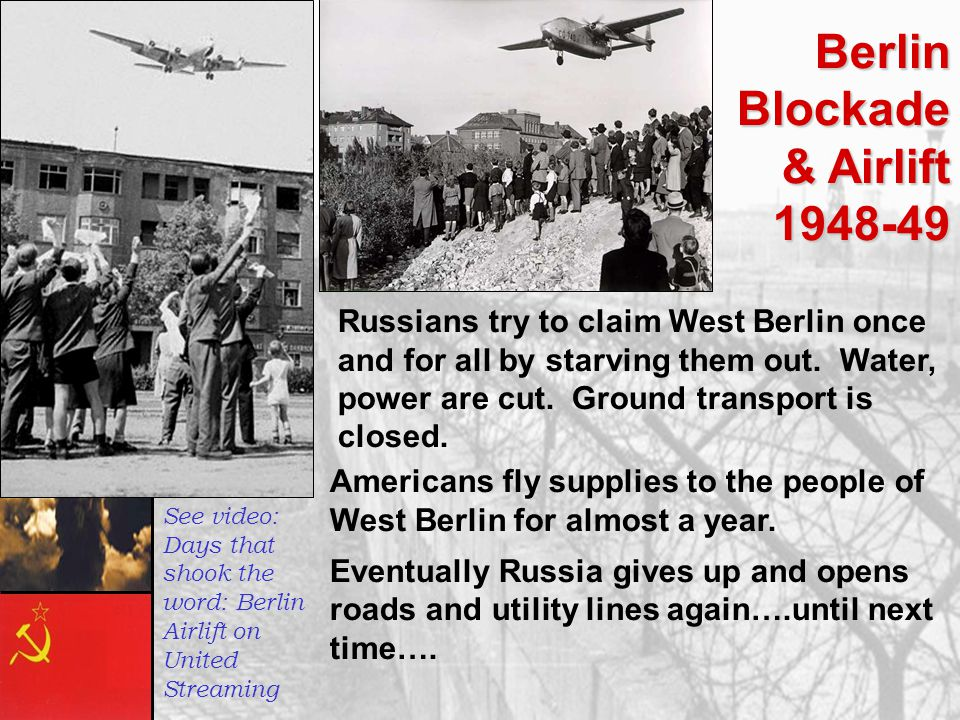 Berlin Blockade & Airlift 1948-49‏